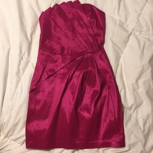 Romeo and Juliet Couture strapless hot pink dress